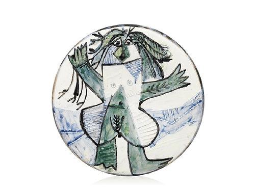 Picasso Madoura Ceramic Plate - Femme échevelée, Ramié 509