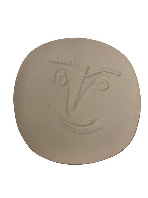 Pablo Picasso Ceramic Plate - Visage, Ramié 449
