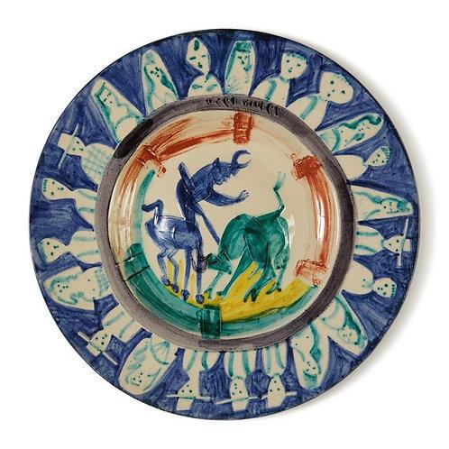 Pablo Picasso Madoura Ceramic Plate -'Corrida aux personnages,' Ramié 104