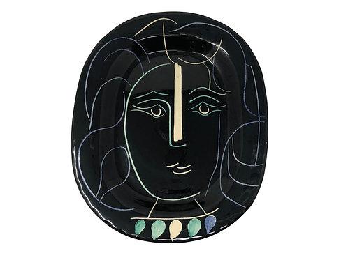 Pablo Picasso Ceramic Plate - Visage de femme, Ramié 220
