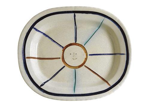 Pablo Picasso Madoura Ceramic Plate - Visage dans étoile, Ramie 30