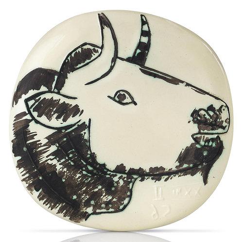 Pablo Picasso Madoura Ceramic Plate, 'Profil de taureau', Ramié 315