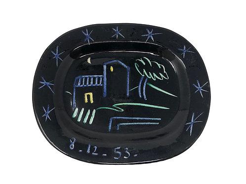 Pablo Picasso Ceramic Plate - Landscape, Ramié 204