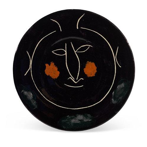 Pablo Picasso Madoura Ceramic Plate - Service Visage Noir, Ramié 43