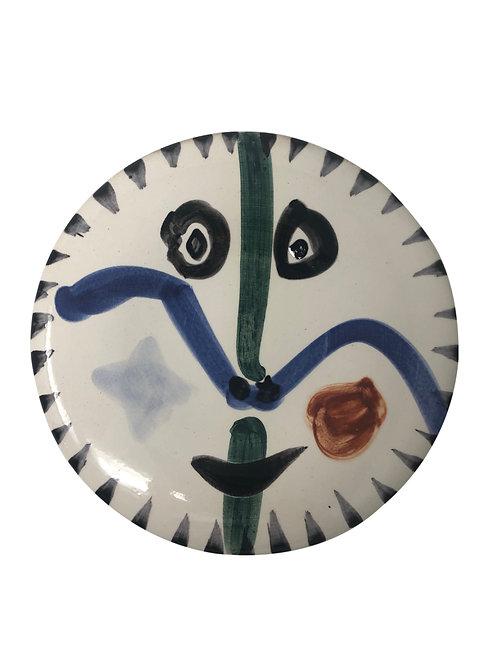 Pablo Picasso Ceramic Plate - Visage no. 111, Ramié 476