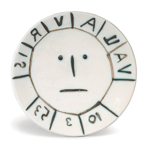 Pablo Picasso Ceramic Plate - Vallauris, Ramié 179