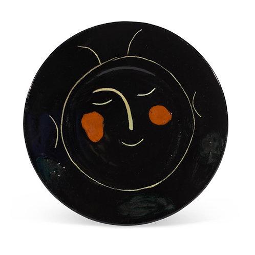 Pablo Picasso Madoura Ceramic Plate - Service Visage Noir, Ramié 42