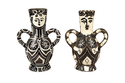 Pablo Picasso King and Queen Vase Set - Vase deux anses hautes, Ramié 141 & 213