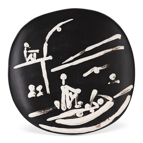 Pablo Picasso Madoura Ceramic Bowl, 'Scéne de Plage,' Ramié 391
