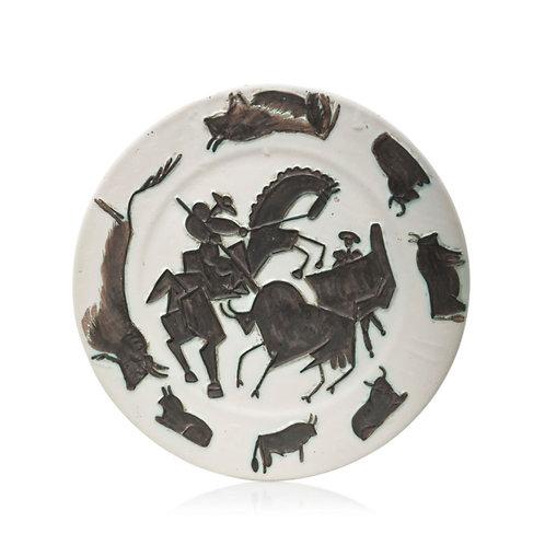 Pablo Picasso Madoura Ceramic Plate - Corrida, Ramié 182