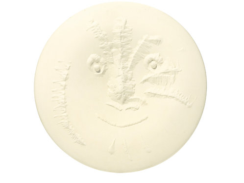 Pablo Picasso Madoura Ceramic Plate - 'Visage en gros relief', Ramié 505