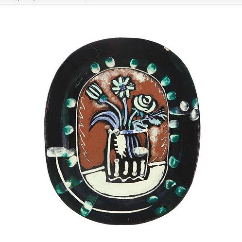 Pablo Picasso Madoura Ceramic Plate -Bouquet, Ramié 254