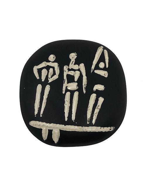Pablo Picasso Ceramic Plate-Trois Personnages Sur Tremplin, Ramié 374