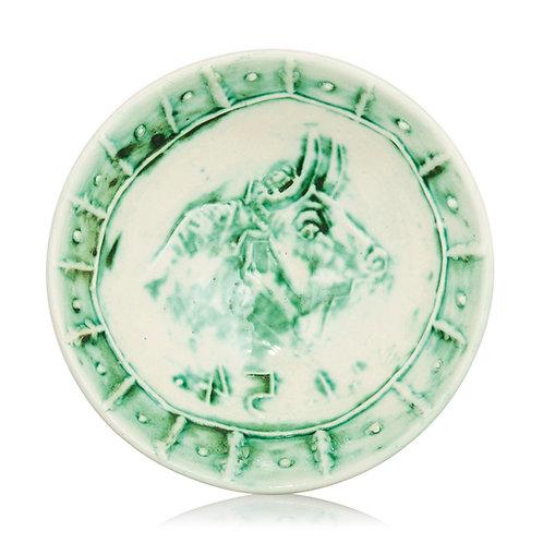Pablo Picasso Madoura Ceramic Plate, 'Tête de taureau' Ramié 232