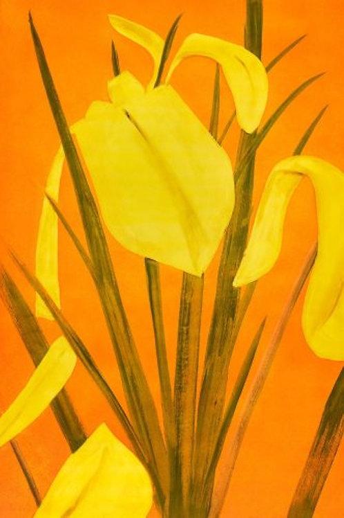 Alex Katz, 'Yellow Flags 4' 2020 Print