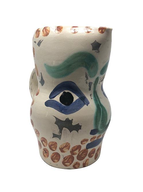 Pablo Picasso Ceramic Pitcher - Visage aux points, Ramié 610