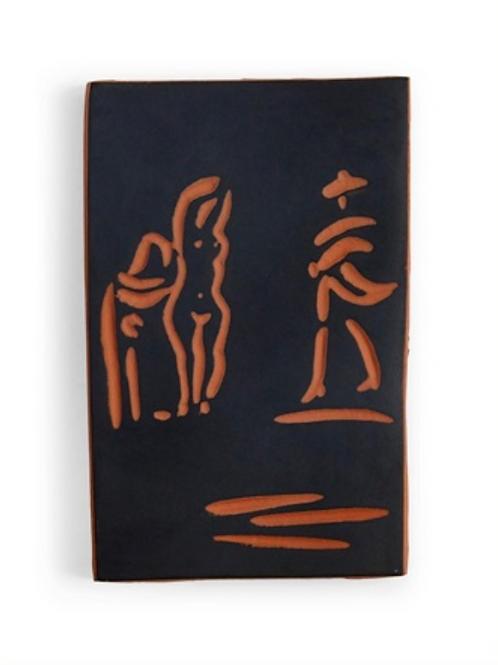 Pablo Picasso Terracotta Plaque - Femmes et toréador, Ramié 541