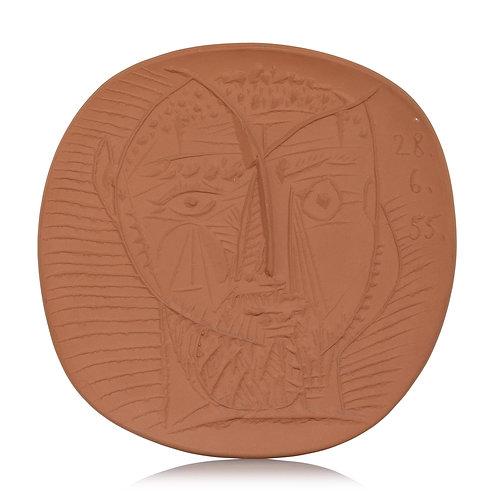 Pablo Picasso Terracotta Plate, Visage de Faune, Ramié 282