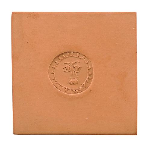 Pablo Picasso Ceramic Tile - 'Cercle au visage,' Ramié 632