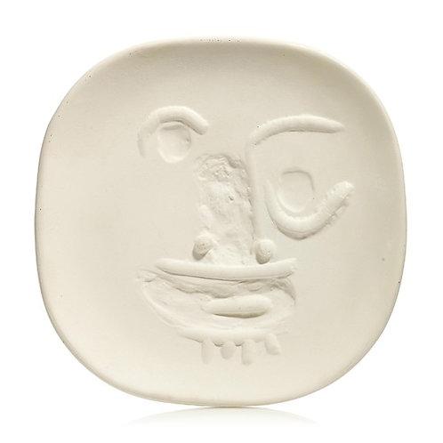 Pablo Picasso Madoura Ceramic Plate - 'Visage aux yeux ronds', Ramié 452