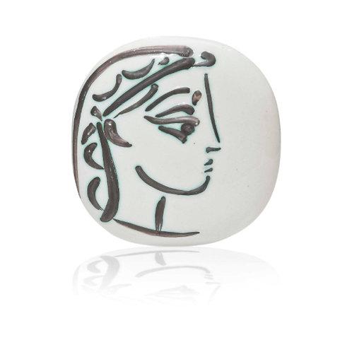 Pablo Picasso Madoura Ceramic Plate - Profil de Jacqueline, Ramié 383