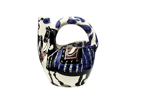 Pablo Picasso Ceramic Pitcher - Cavalier et cheval, Ramié 138