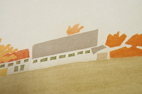 Alex Katz, 'Small Cuts House and Barn' 2008 Print