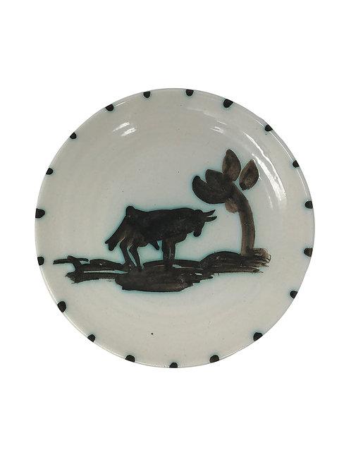 Pablo Picasso Ceramic Plate - Taureau sous l'arbre, Ramié 159