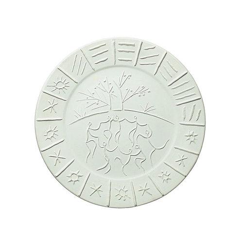Madoura Ceramic Plate 'Joie de Vivre' Ramié 346