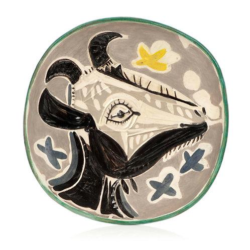 Pablo Picasso Madoura Ceramic Plate- Tête de chèvre de profil Ramié 151