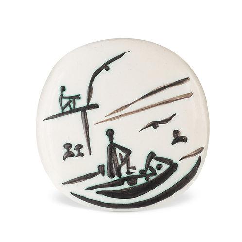 Pablo Picasso Madoura Ceramic Bowl, 'Scéne de Plage,' Ramié 389