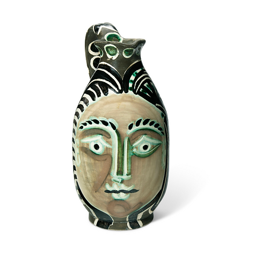 Pablo Picasso Madoura Ceramic Pitcher - Femme du barbu , Ramié 193