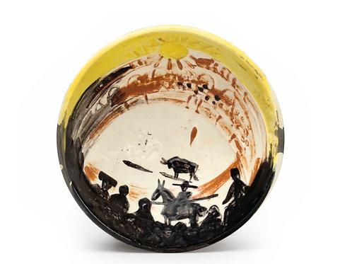 Pablo Picasso Ceramic Bowl - Scène de tauromachie, Ramié 241