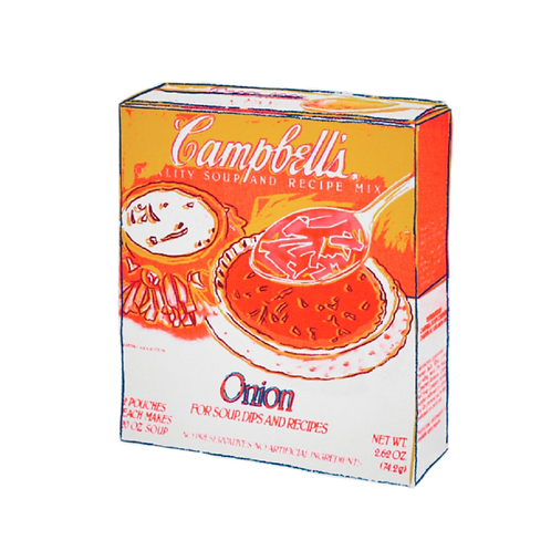 Andy Warhol, Campbell's Onion Soup Box, Silkscreen on Canvas, 1986