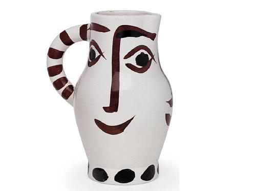 Pablo Picasso Madoura Ceramic Pitcher - Quatre Visages, Ramié 436