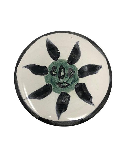 Picasso Ceramic Plate - Visage no. 127, Ramié 478