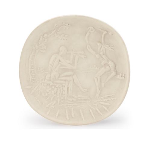 Pablo Picasso Madoura Ceramic Plate - Joueur de diaule et faune, Ramié 342