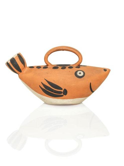 Pablo Picasso Ceramic Pitcher - Sujet poisson, Ramié 139