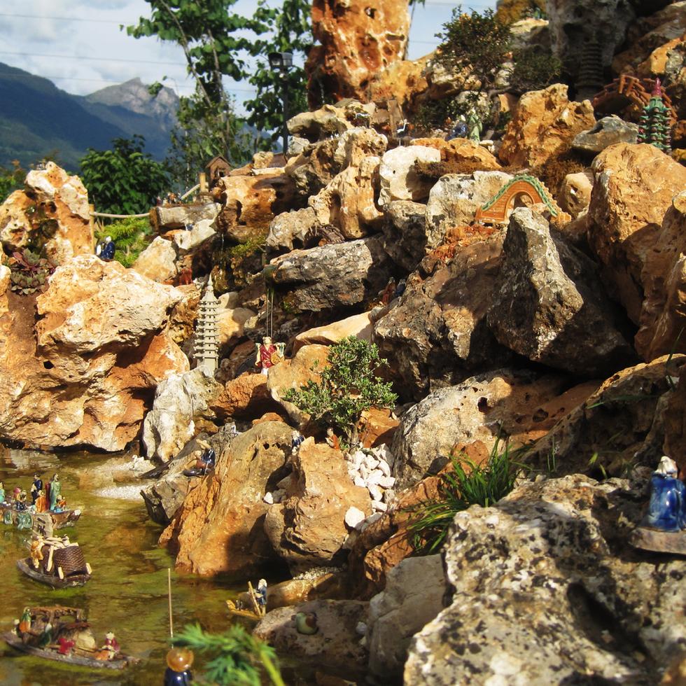 "Village miniature chinois ""Shan Shui"""