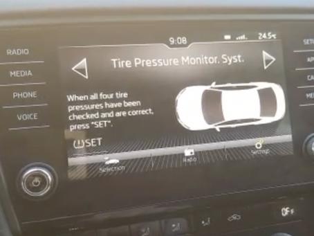 איפוס התראת לחץ אוויר בגלגל