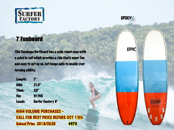 Surfschool Surfboard
