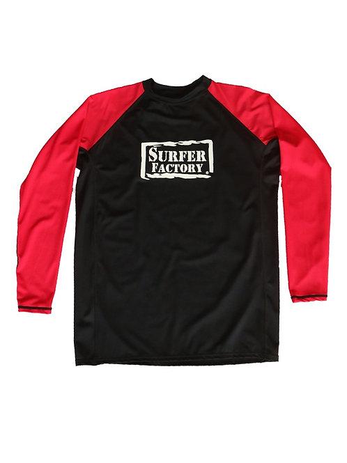 Rashguard Surfer Factory Black/Red
