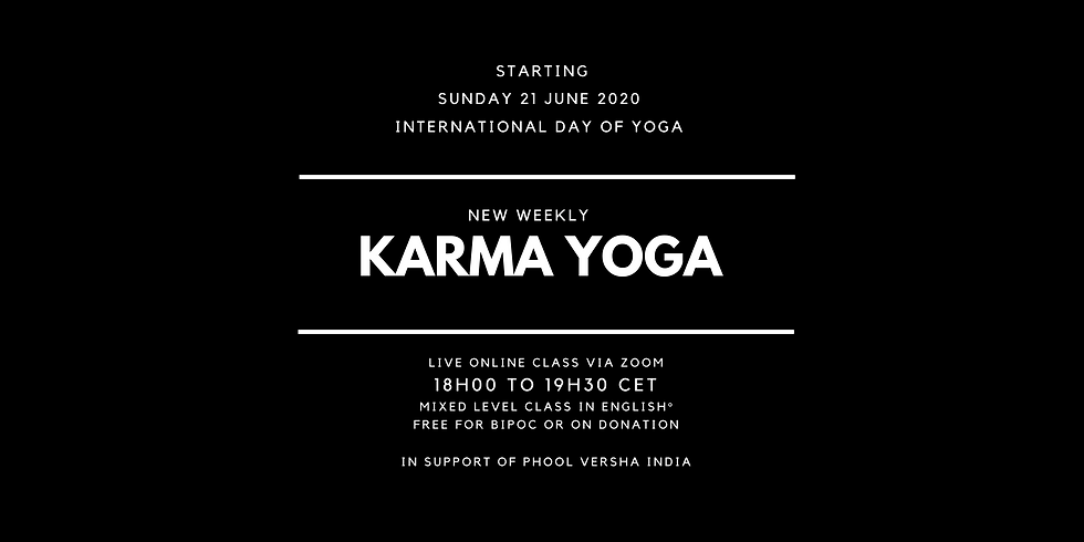 FIRST KARMA YOGA CLASS with David