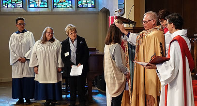 Confirmations during Bishop Marc's visit to Epiphany.
