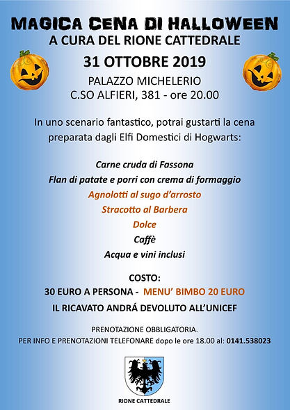 Cena Halloween 2019 Palazzo Michelerio .