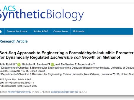Article published in ACS Synthetic Biology
