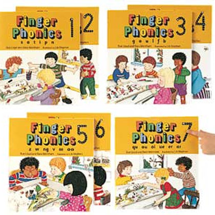 Jolly Phonics Finger Books 1-7