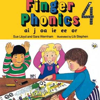 Jolly Phonics Finger Phonics Book 4