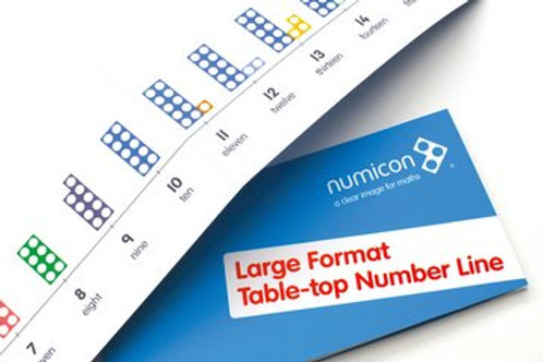 Numicon Large Format Table-top Number Line