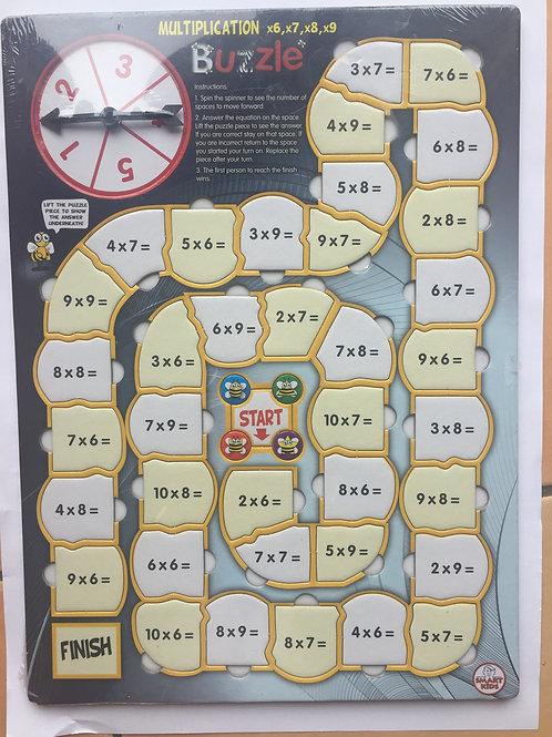 Buzzles Multiplication x6 x7 x8 x9 (BZ09)